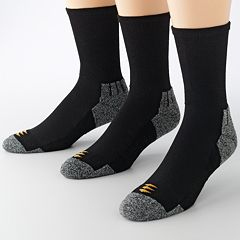 Men's Powersox by GOLDTOE 3-pack Power-Lites Crew Socks