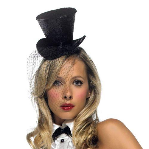 Mini Veiled Top Hat - Adult