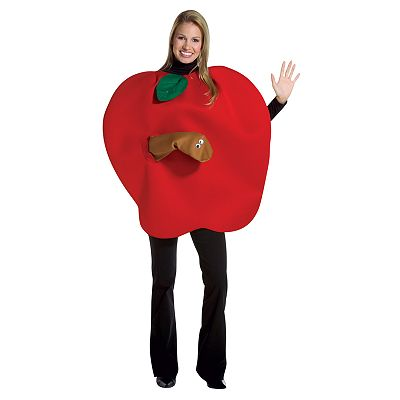 Apple with Worm Costume - Adult