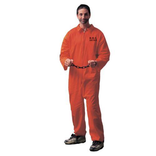 Prisoner Jumpsuit Costume - Adult