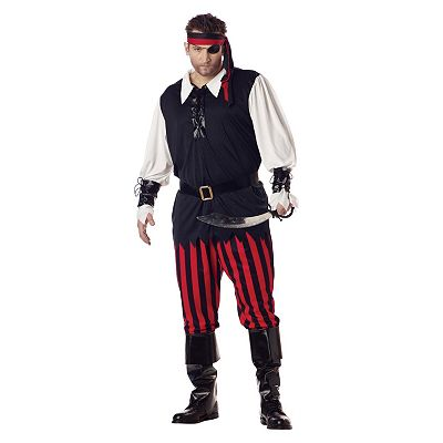 Cutthroat Pirate Costume - Adult Plus