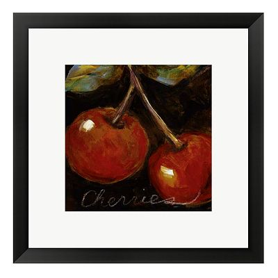 Ripe Cherries Framed Wall Art