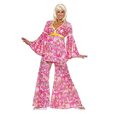 Flower Power Hippie Costume - Adult