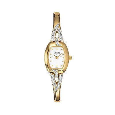 CARAVELLE by Bulova Stainless Steel Gold-Tone Crystal Watch - Women