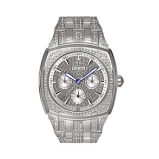 Bulova Men's Crystal Stainless Steel Watch - 96C002