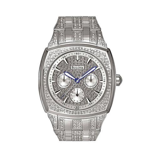 Bulova Stainless Steel Crystal Watch - Men