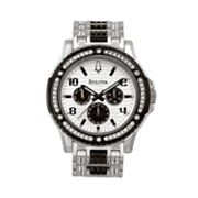 Bulova Stainless Steel Crystal Watch - Men