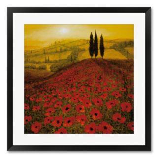 Poppy Field Framed Wall Art