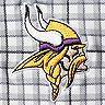 Men's Antigua Gray/Black Minnesota Vikings Deliver Button-Down Polo