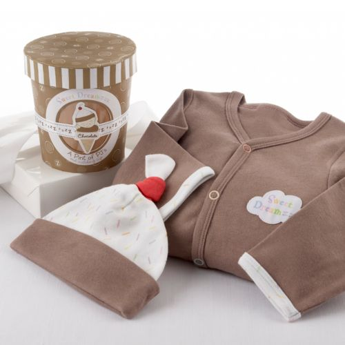 Baby Aspen A Pint Of Chocolate PJs Gift Set