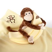 Baby Aspen Plush Monkey and Blanket Gift Set
