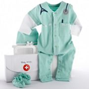 Baby Aspen 3-pc. Doctor Coveralls Gift Set