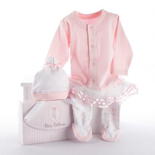 Baby Aspen Big Dreamzzz Ballerina Sleep & Play Hat Gift Set - Baby Girl
