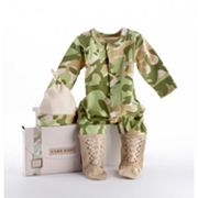 Baby Aspen Camouflage Sleep and Play and Hat Gift Set