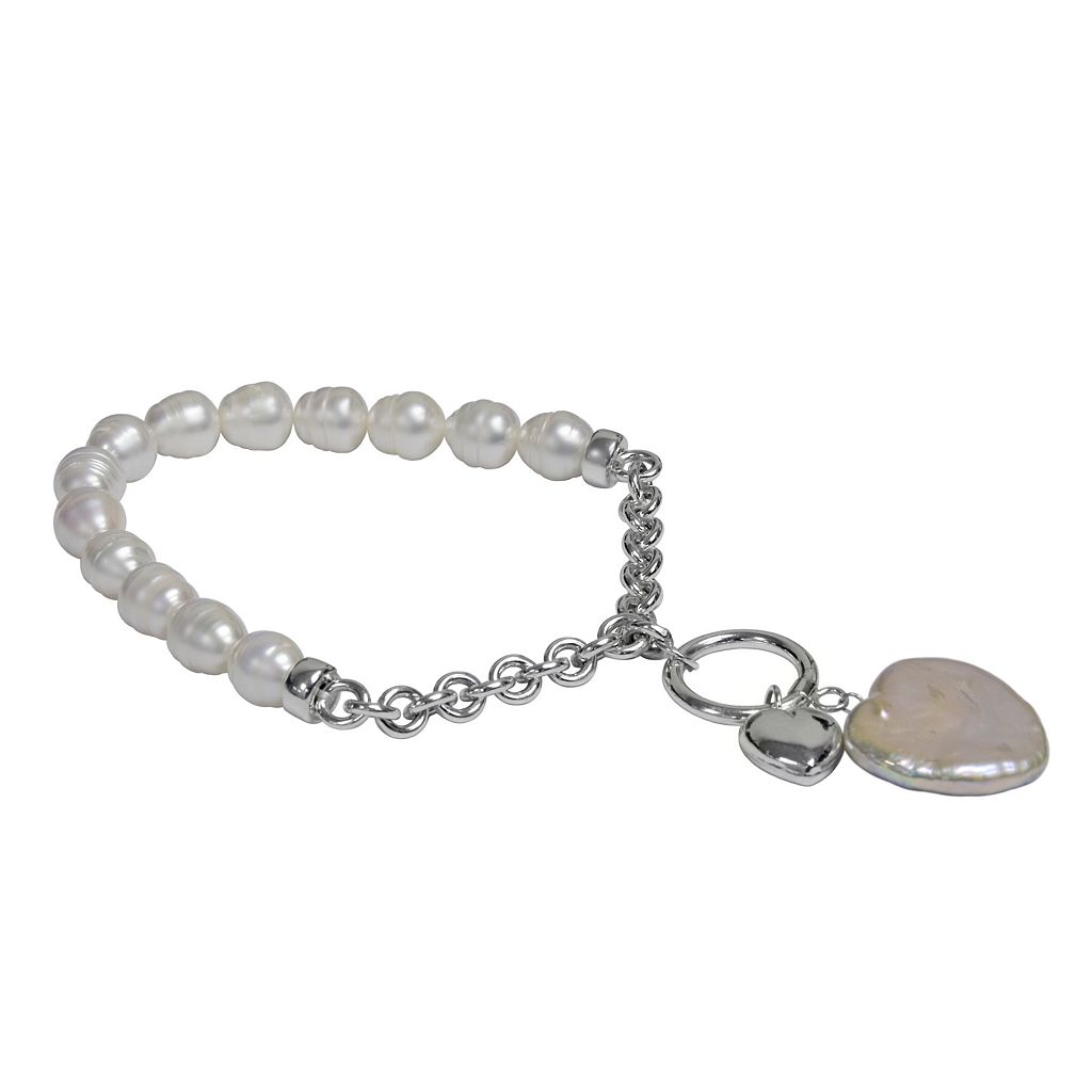 Sterling Silver Freshwater Cultured PearlStretch Bracelet