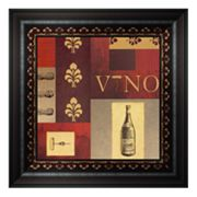 Vino in Red I Framed Wall Art