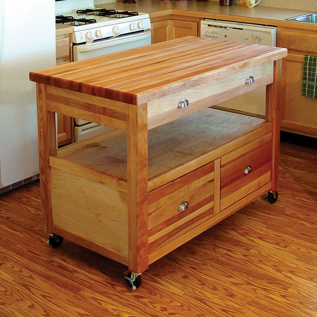 Catskill Craftsmen Grand Americana Kitchen Cart
