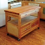 Catskill Craftsmen Grand Americana Kitchen Cart