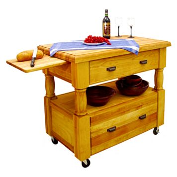 Catskill Craftsmen Island Europa Kitchen Cart