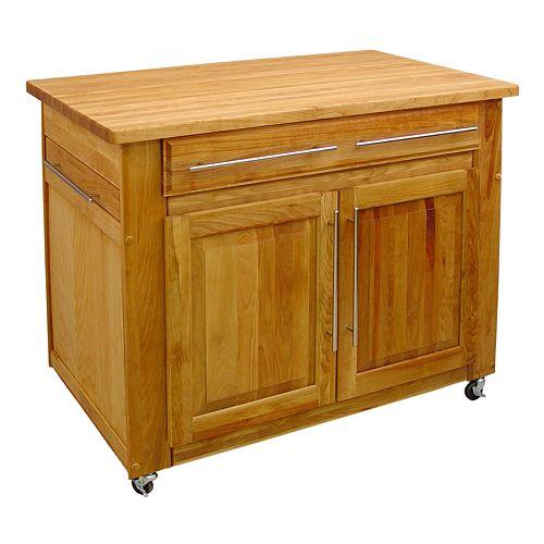 Catskill Craftsmen Empire Island Kitchen Cart