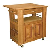 Catskill Craftsmen Heart of the Kitchen Island Kitchen Cart With Drop Leaf