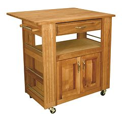 Catskill Craftsmen Heart of the Kitchen Island Kitchen Cart With Drop Leaf by