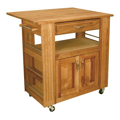 catskill craftsmen heart of the kitchen island kitchen cart with drop leaf. Black Bedroom Furniture Sets. Home Design Ideas