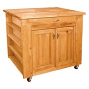 Catskill Craftsmen Deep Storage Medium Island Kitchen Cart