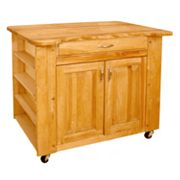 Catskill Craftsmen Deep Storage Large Island Kitchen Cart