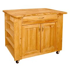 Catskill Craftsmen Deep Storage Large Island Kitchen Cart by