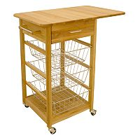 Catskill Craftsmen Single Drop Leaf Basket Cart
