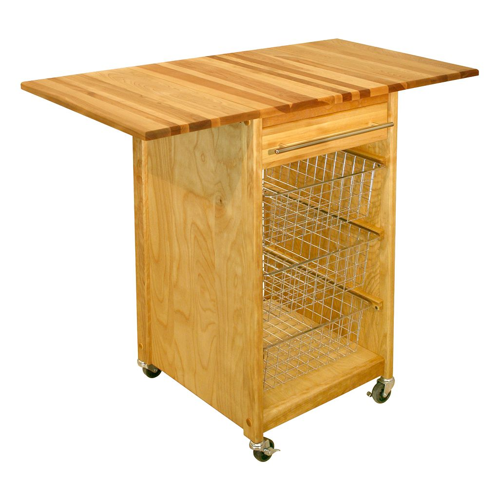 Catskill Craftsmen Contemporary Basket Cart