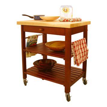 Catskill Craftsmen Roll-About Kitchen Cart