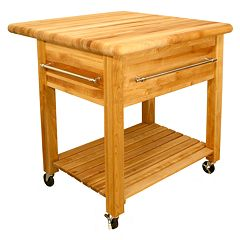Catskill Craftsmen Grand Workcenter Kitchen Cart With Drop Leaf by
