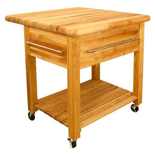 Catskill Craftsmen Grand Workcenter Kitchen Cart With Drop Leaf