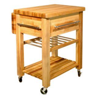 Catskill Craftsmen Baby Grand Workcenter Kitchen Cart With Wine Rack