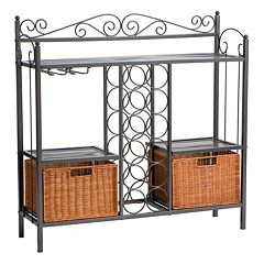 Celtic Rattan Baker's Rack