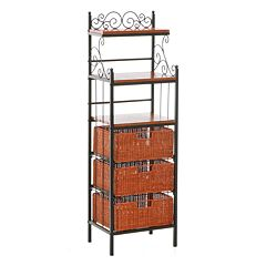 Manilla 3-Drawer Baker's Rack