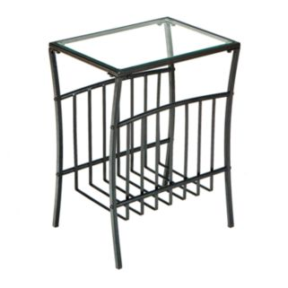 Contemporary Metal Magazine Table