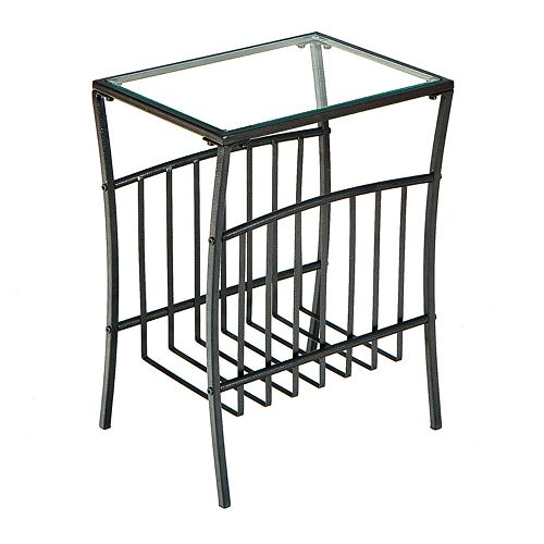 Contemporary Metal Magazine Table