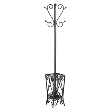 Scroll Black Coat Rack