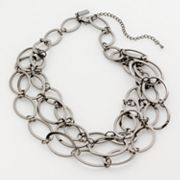 daisy fuentes Jet-Tone Multistrand Necklace