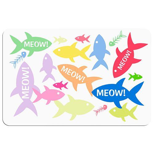 """Meow!"" Fish Floor Mat"