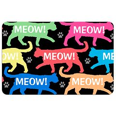 'Meow!' Cat Floor Mat