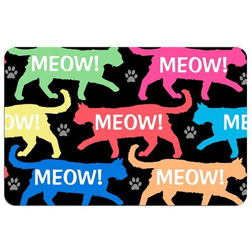 """Meow!"" Cat Floor Mat"