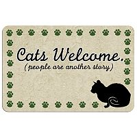 Paw-Print Cat Floor Mat