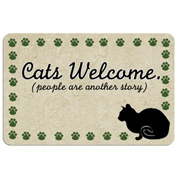 Paw-Print Cat Floor Mat