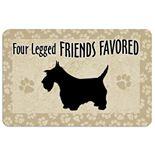"""""""Four Legged Friends"""" Dog Floor Mat"""