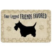 """Four Legged Friends"" Dog Floor Mat"