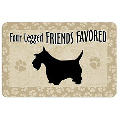 'Four Legged Friends' Dog Floor Mat